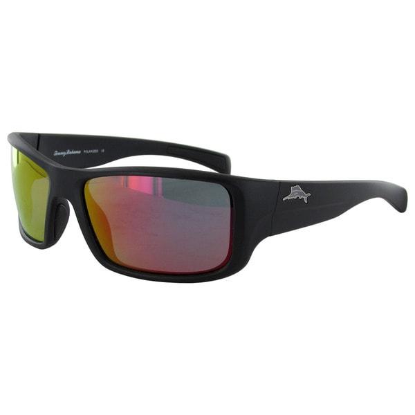 Tommy Bahama Mens On A Shorts Leash Wrap Style Polarized Sunglasses