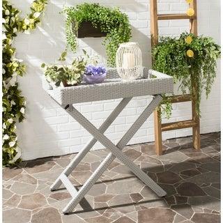 Safavieh Outdoor Living Bardia Grey Folding Tray Table
