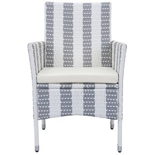 Safavieh Outdoor Living Frazier Grey/ White Dining Set (5-piece)