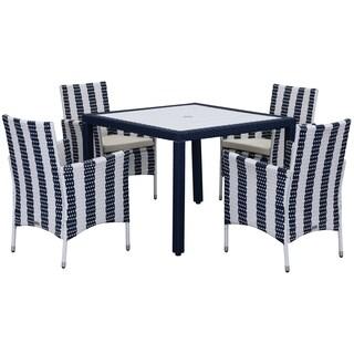 Safavieh Outdoor Living Frazier Navy/ White Dining Set (5-piece)