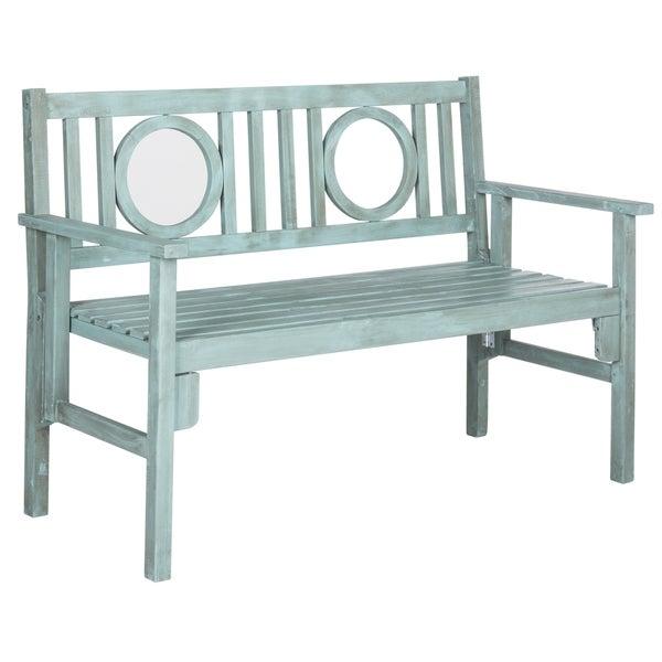 Safavieh Outdoor Living Piedmont Beach House Blue Folding Bench