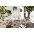 Safavieh Outdoor Living Rustic Sophie Antique White Iron Patio Set (4-piece)
