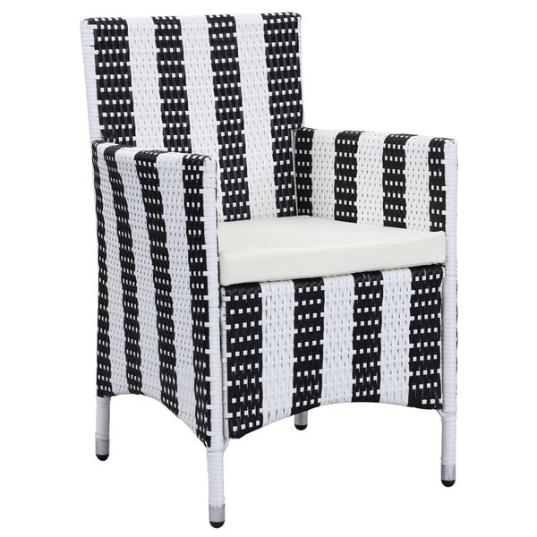 Safavieh Outdoor Living Kendrick Black/ White Chair