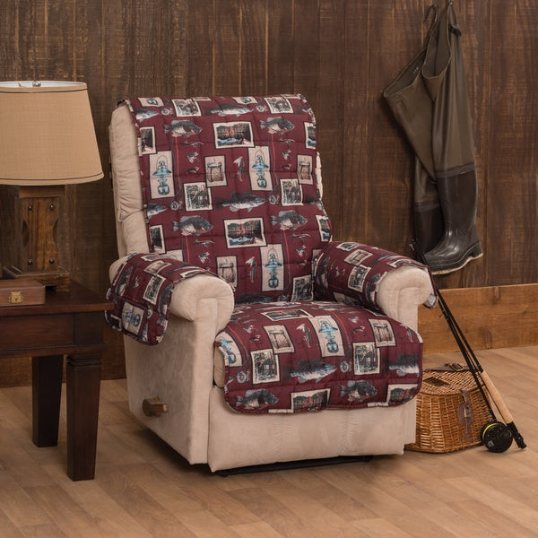 Gone Fishing Recliner or Wing Chair Protector