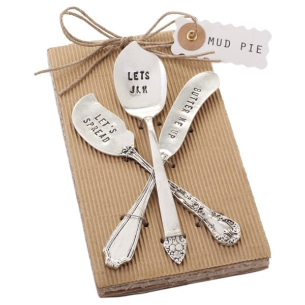 English Breakfast Stamped Jam Spreaders