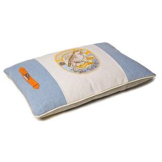 Touchdog Original Classical Denim Insertable Pillow Dog Bed