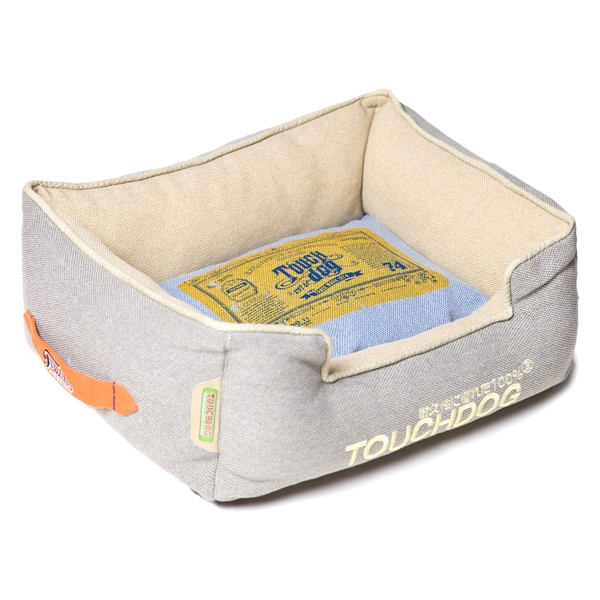 Touchdog Original Denim Classical Rectangular and Reversible Dog Bed