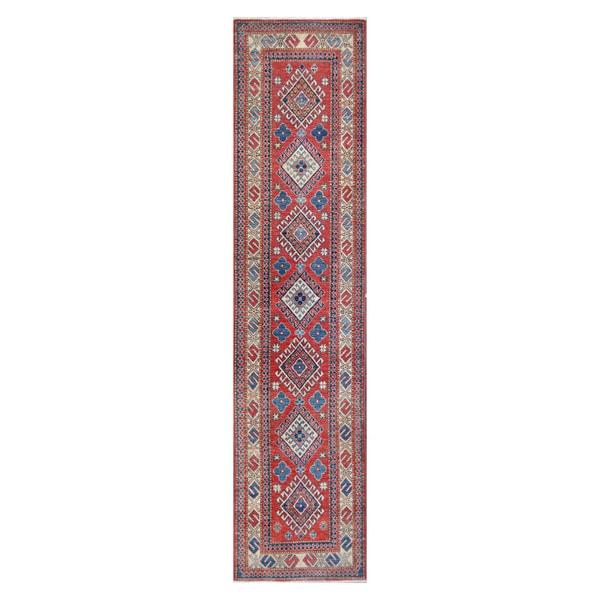 Herat Oriental Afghan Hand-knotted Vegetable Dye Tribal Kazak Wool Runner (2'8 x 11'4) 15696758
