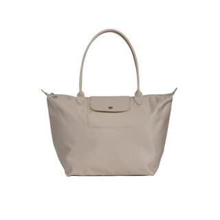 Longchamp Beige Le Pliage Neo Medium Tote Bag