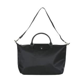 Longchamp Black Le Pliage Neo Medium Handbag