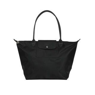 Longchamp Black Le Pliage Neo Small Tote Bag