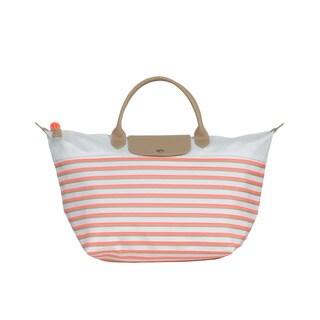 Longchamp Coral Mariniere Medium Handbag