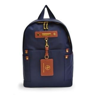 Adrienne Vittadini High Density Nylon Navy Fashion 15-inch Backpack