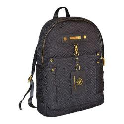 Adrienne Vittadini Black 15-inch Quilted Nylon Fashion Backpack