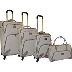 Adrienne Vittadini Linen 4-piece Spinner Luggage Set
