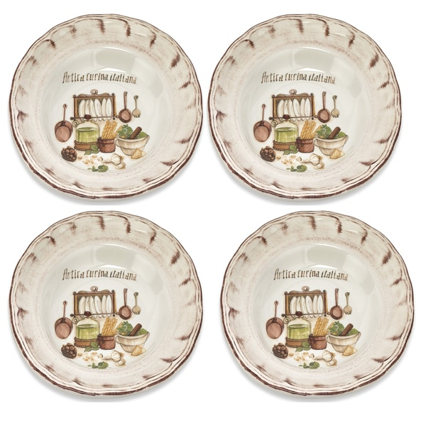 Italian-made Cucina Italiana Soup/ Cereal Bowl (Set of 4)