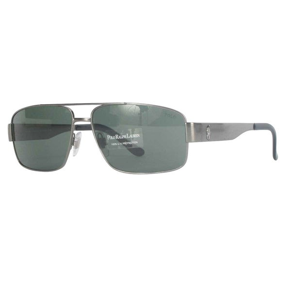 Polo Ralph Lauren PH3054 Brushed Gunmetal Sunglasses - 60MM