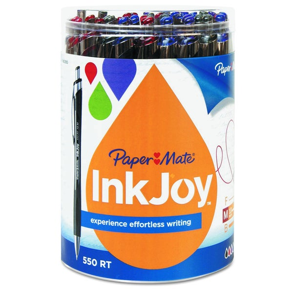Paper Mate InkJoy 550 RT Assorted Ballpoint Retractable Pen (Pack of 36 Pens)