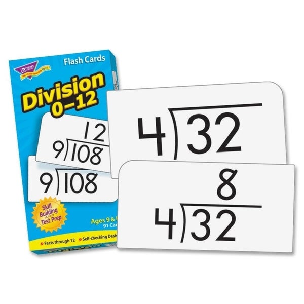 TREND Skill Drill Division Flash Cards (2 Packs of 96 Cards)