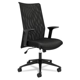 basyx by HON VL573 Series Black Base/ Black Frame Mesh High-Back Task Chair