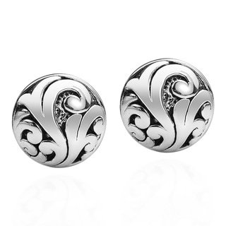 Ornate Swirl Vines .925 Sterling Silver Post Earrings (Thailand)
