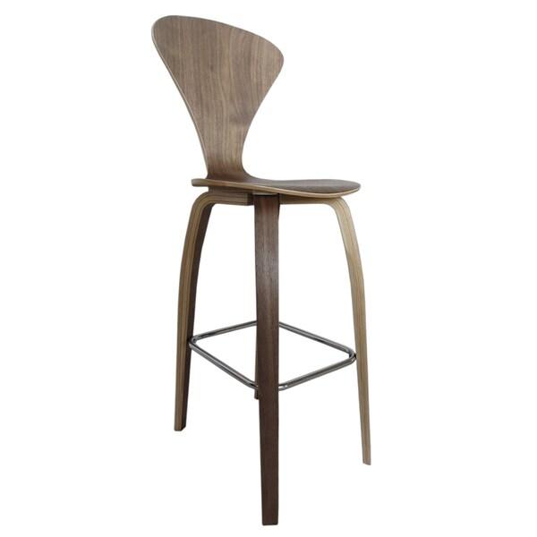 MaxMod Wooden Bar Chair 30-inch in Walnut