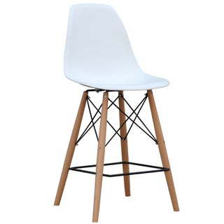 MaxMod Woodleg Bar Chair in White