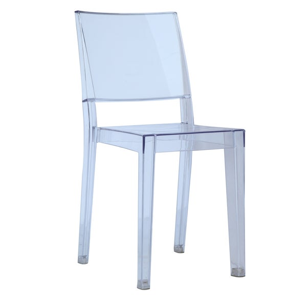 MaxMod Clear Square Side Chair in Clear