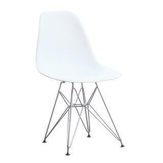 MaxMod WireLeg Dining Side Chair in White