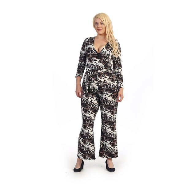 Plus Size Animal Print Jumpsuit
