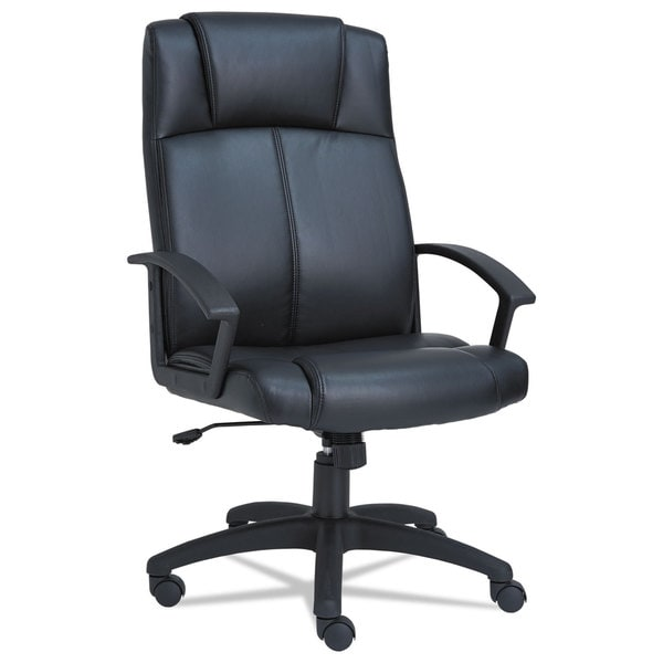 Alera CL Series Black High-Back Leather Chair