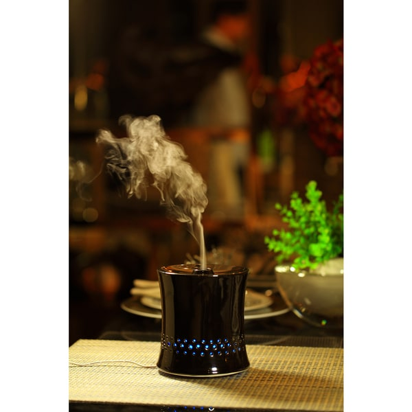 SPT Ceramic Ultrasonic Black Aroma Diffuser/ Humidifier 15700727