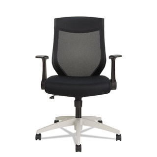 Alera EBK Series Black/Cool Gray Synchro Mid-Back Mesh Chair