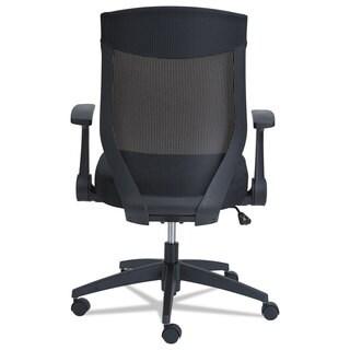 Alera EBK Series Black Synchro Mid-Back Mesh Chair