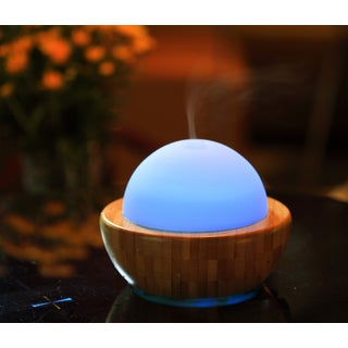 SPT Ultrasonic Aroma Wood Base Diffuser/Humidifier