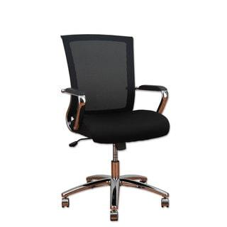Alera ENR Series Black/Chrome Mid-Back Slim Profile Mesh Chair