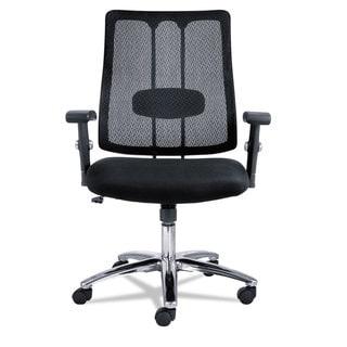 Alera EM Series Black Mesh Lumbar Chair
