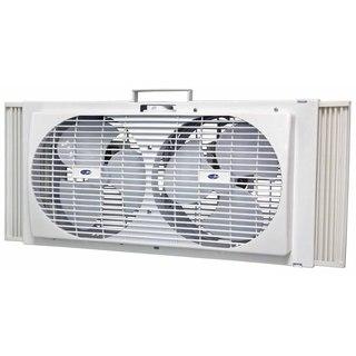 Uniqueware 2-speed White Deluxe Twin Window/ Floor Fan