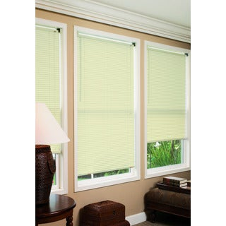 Lewis Hyman Radiance Collection Durable Anti Static Ivory Vinyl Mini Blind