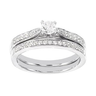 H Star 14k White Gold 1/2ct Diamond Wedding Ring Set (H-I, I1-I2)
