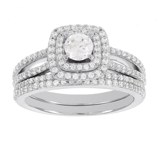 H Star 14k White Gold 1ct Diamond Wedding Ring Set (H-I, I1-I2)