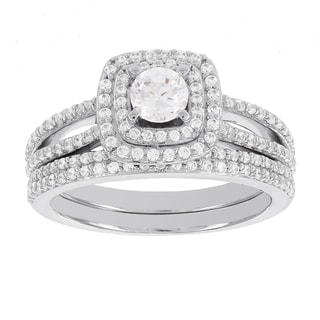 H Star 14k White Gold 1ct Diamond Wedding Ring Set (H-I, I1-I2)