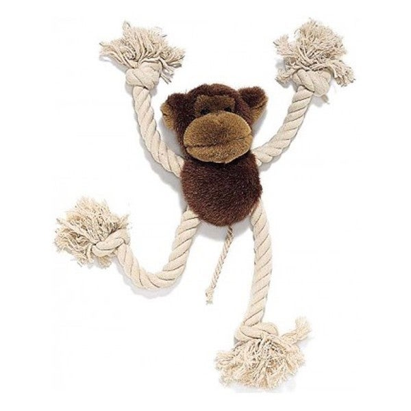 Spot Ethical Moppets 12.5-inch Monkey and Rope Chew Toy