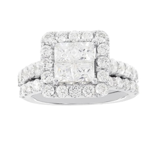 H Star 14k White Gold 2 7/8ct Diamond Wedding Ring Set (H-I, I1-I2)