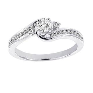 H Star 14k White Gold 1/2ct Diamond Classic Engagement Ring (H-I, I1-I2)