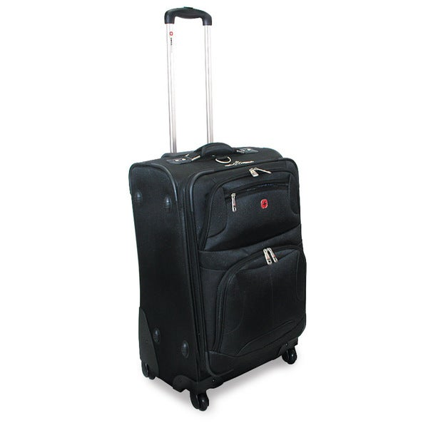 Swiss Gear Zurich 24-inch Spinner Lightweight Expandable Upright Suitcase