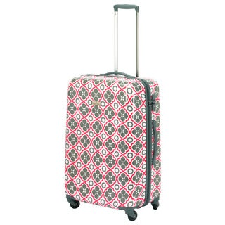 Happy Chic by Jonathan Adler Orange/Gray 21-inch Hardside Carry On Spinner Suitcase
