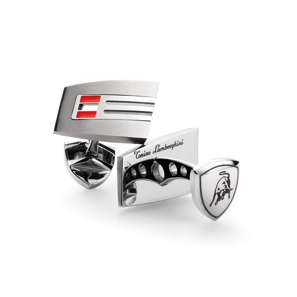 Tonino Lamborghini Corsa Red Garnet Stone Cufflinks