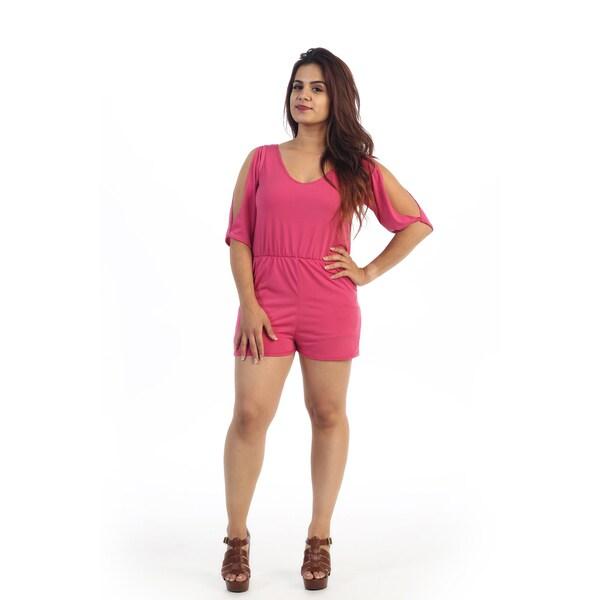 Women's Plus PInk Size Short Romper