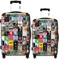 iKase Collage 2-piece Hardside Spinner Luggage Set